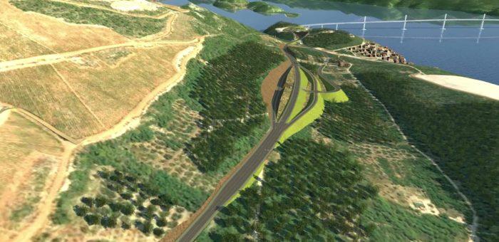 Pristupne prometnice Pelješkom mostu – video